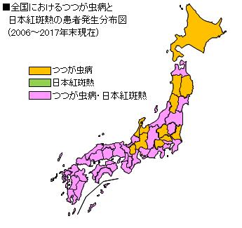 日本紅斑熱・つつが虫病が発生しています。野山に入るときはダニに刺されないよう、肌を出さない服装で。